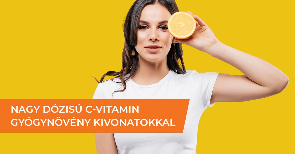 Nagydózisú c-vitamin amla, camu camu kivonatokkal és bioflavonoidokkal