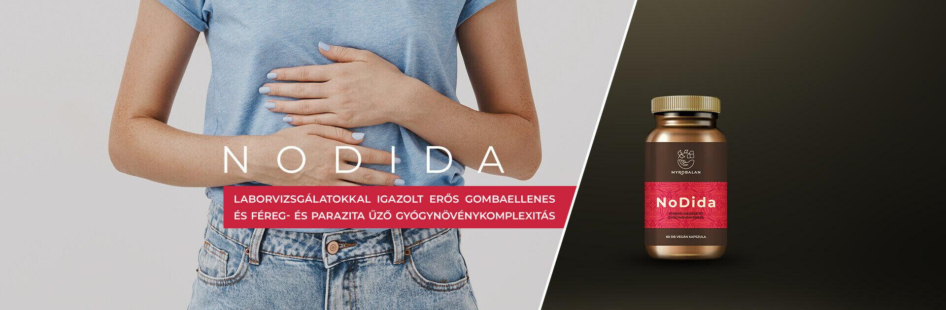 NoDida gyógynövény kapszula candida, gombák, paraziták és férgek kezelésére